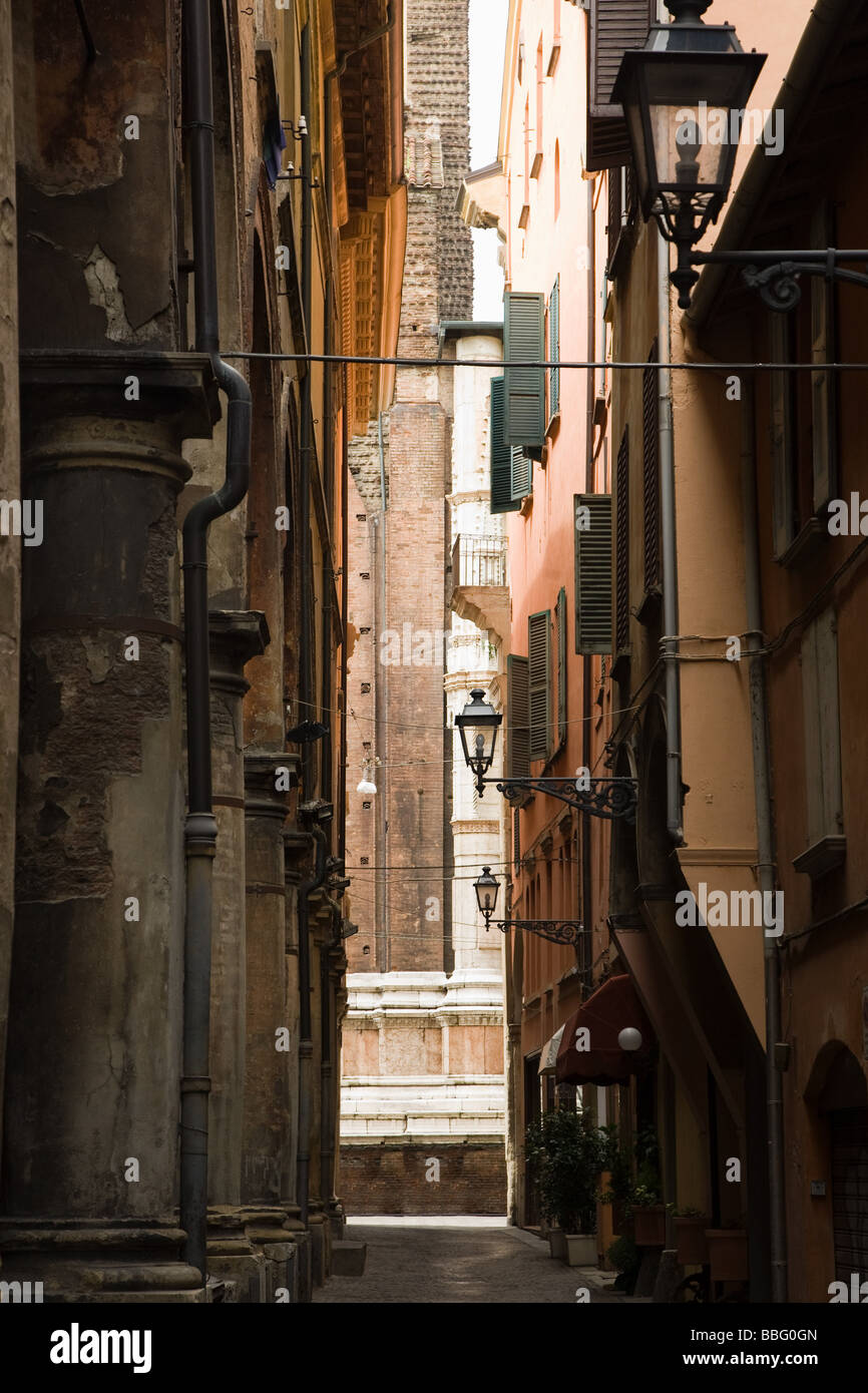 A street in bologna - Stock Image