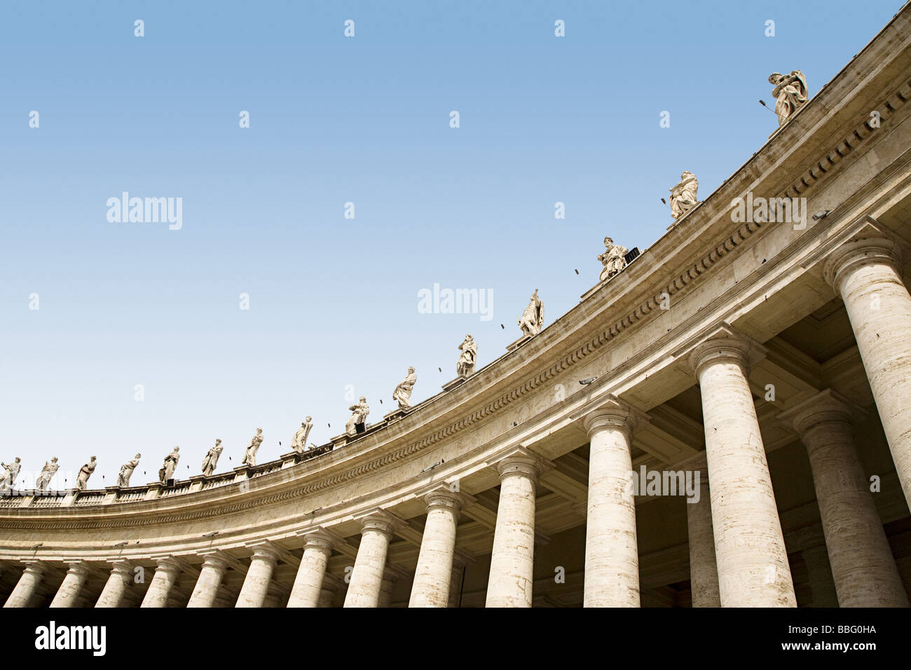 Low angle view of statues in st peters square Stock Photo