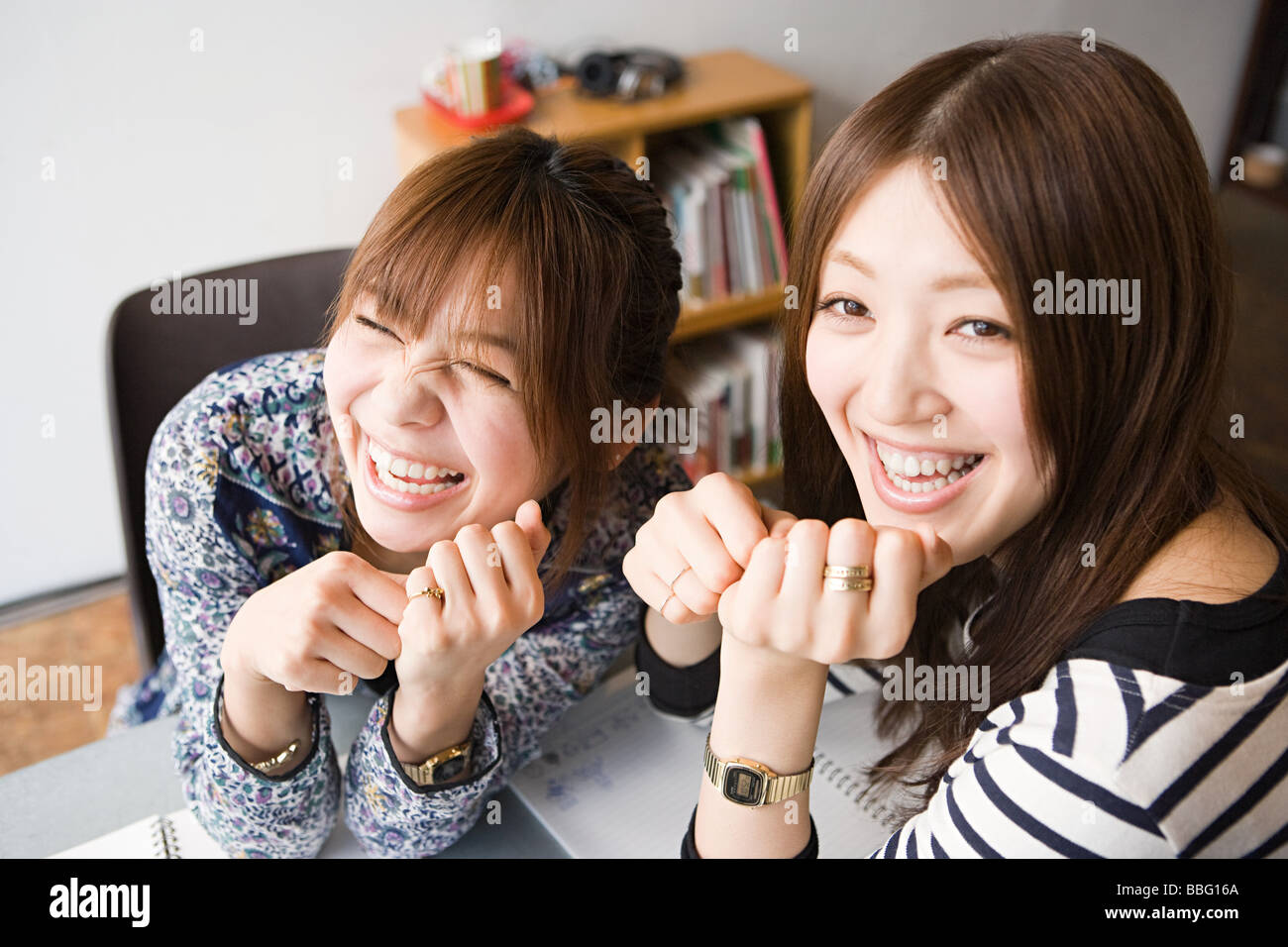 Young women laughing - Stock Image