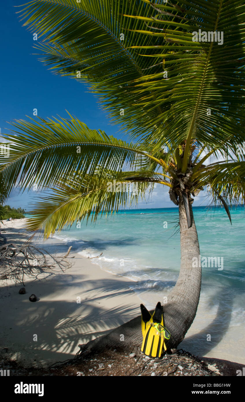 Tropical view from beach. - Stock Image