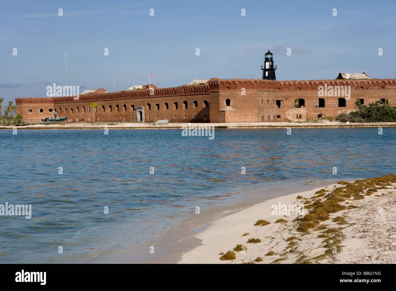 Ft. Jefferson, brick structure. - Stock Image