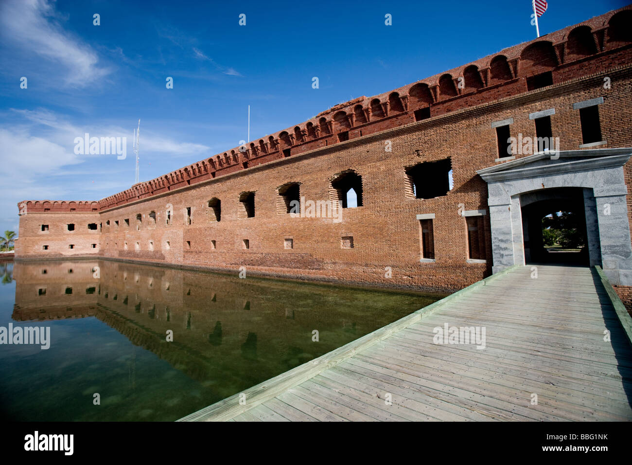Entrance to Ft. Jefferson. - Stock Image
