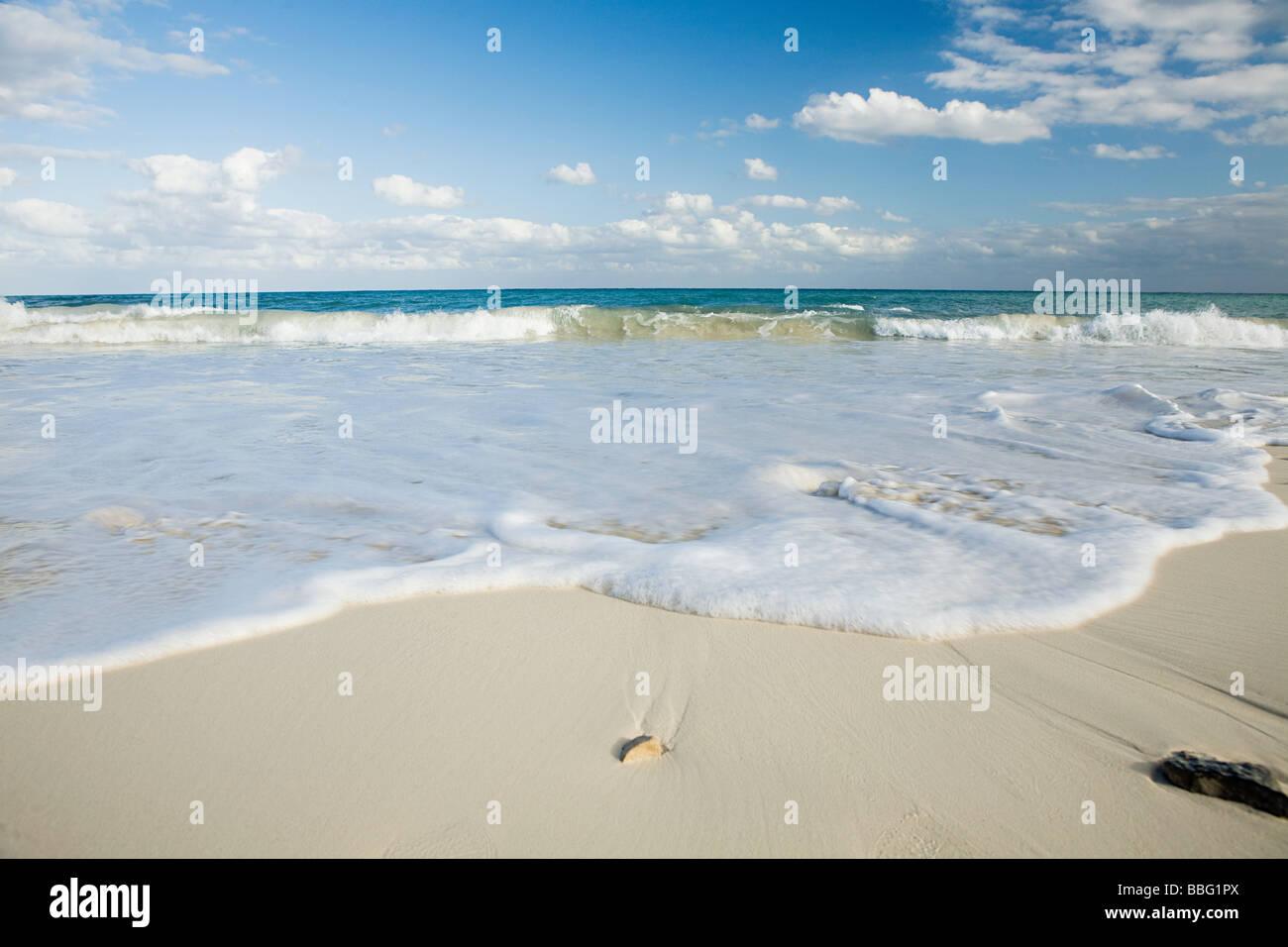 Beach and sea in yucatan - Stock Image