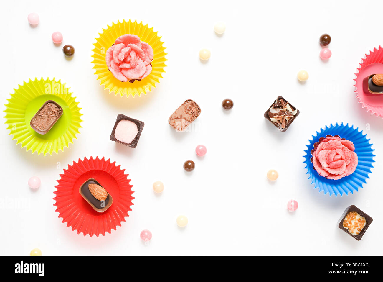 Chocolates and candies - Stock Image