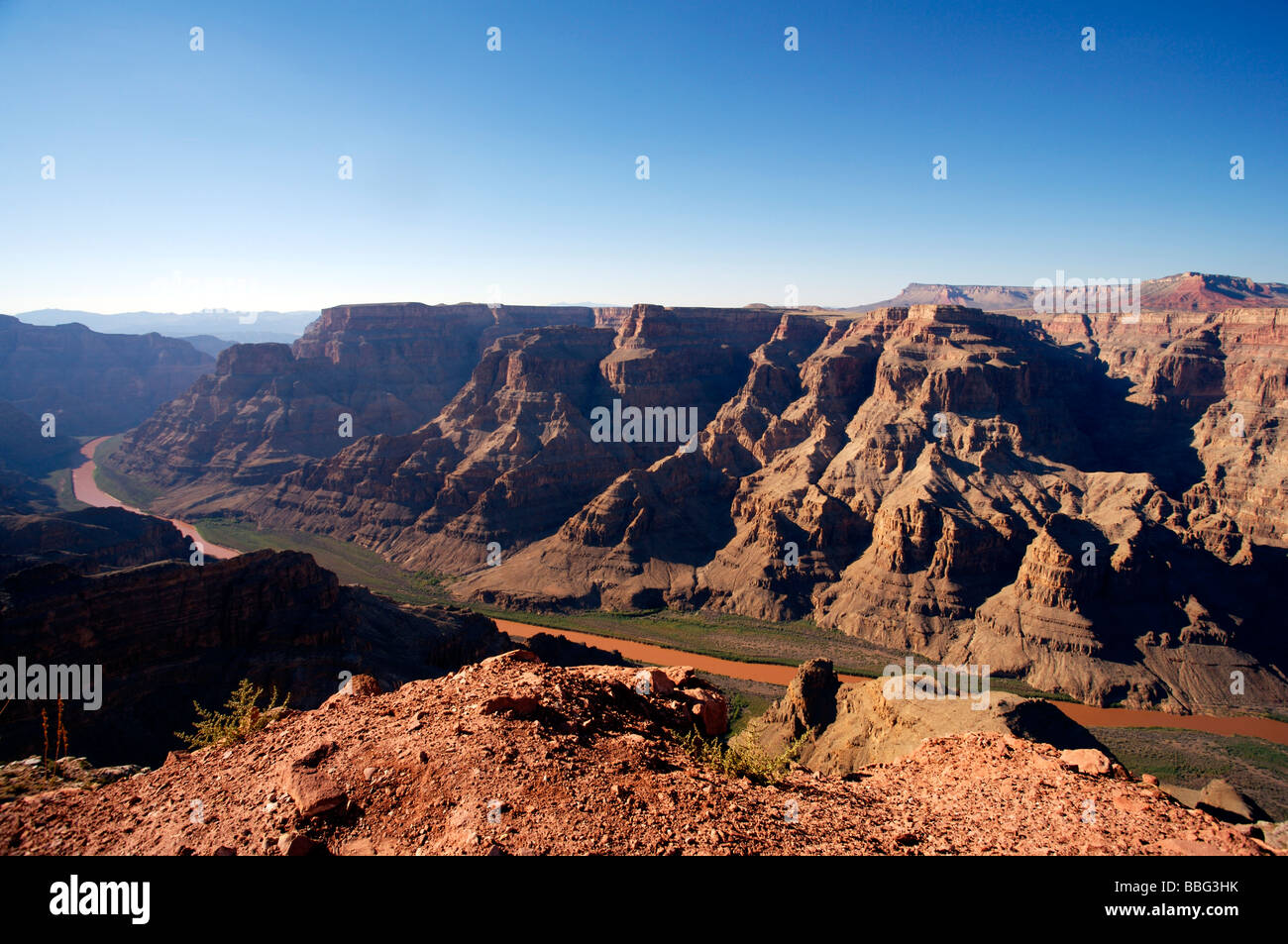West Rim Grand Canyon Colorado River Arizona - Stock Image