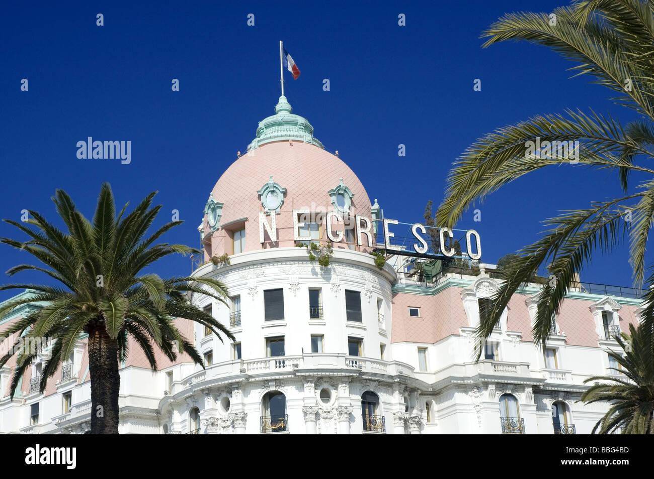 Negresco Hotel, Promenade Des Anglais, Nice - Stock Image