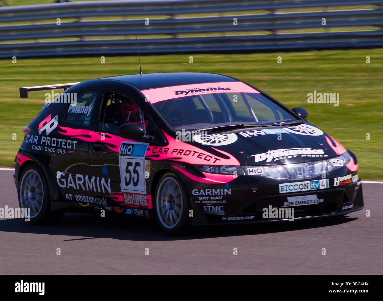 Team Dynamics Honda Civic Race Car In British Touring Car Championship At  Oulton Park Cheshire England UK
