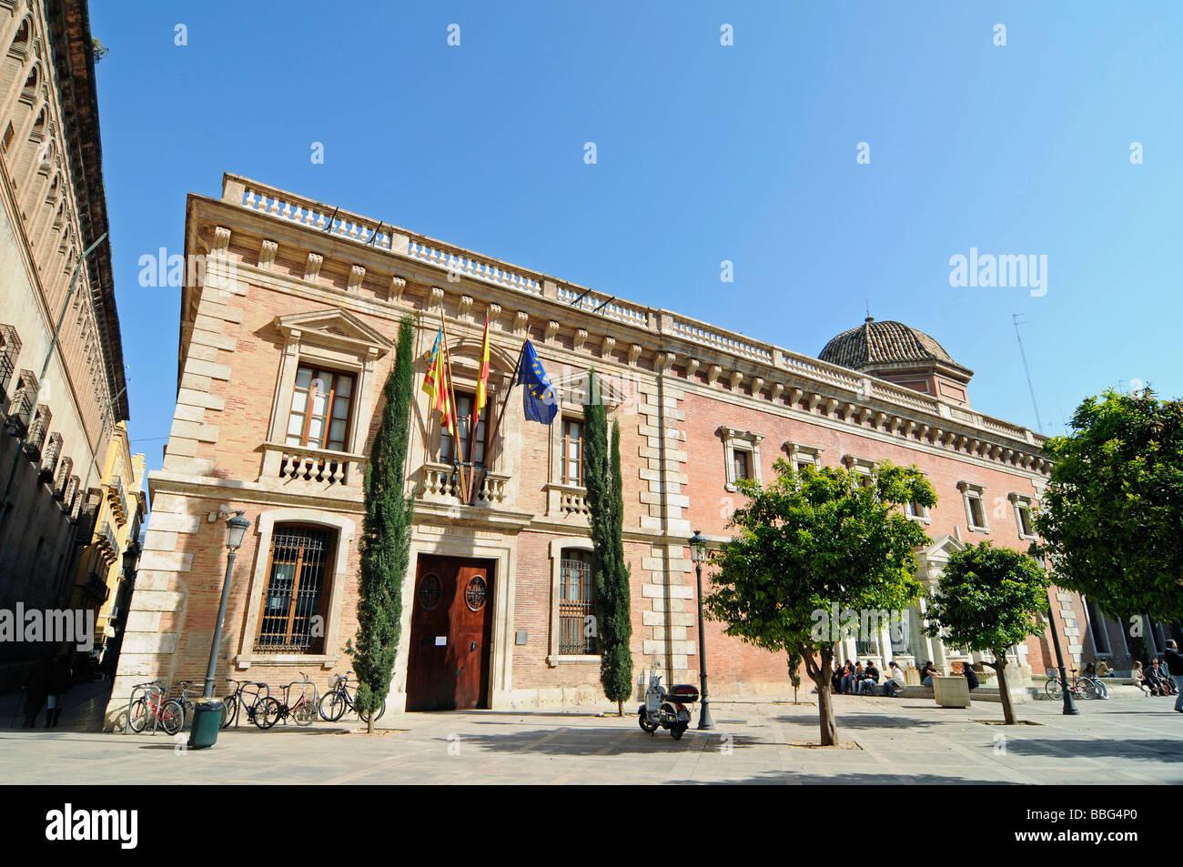 Universidad Literaria, university, exhibitions, art, literature, museum, square, Plaza del Patriarca, Valencia, - Stock Image