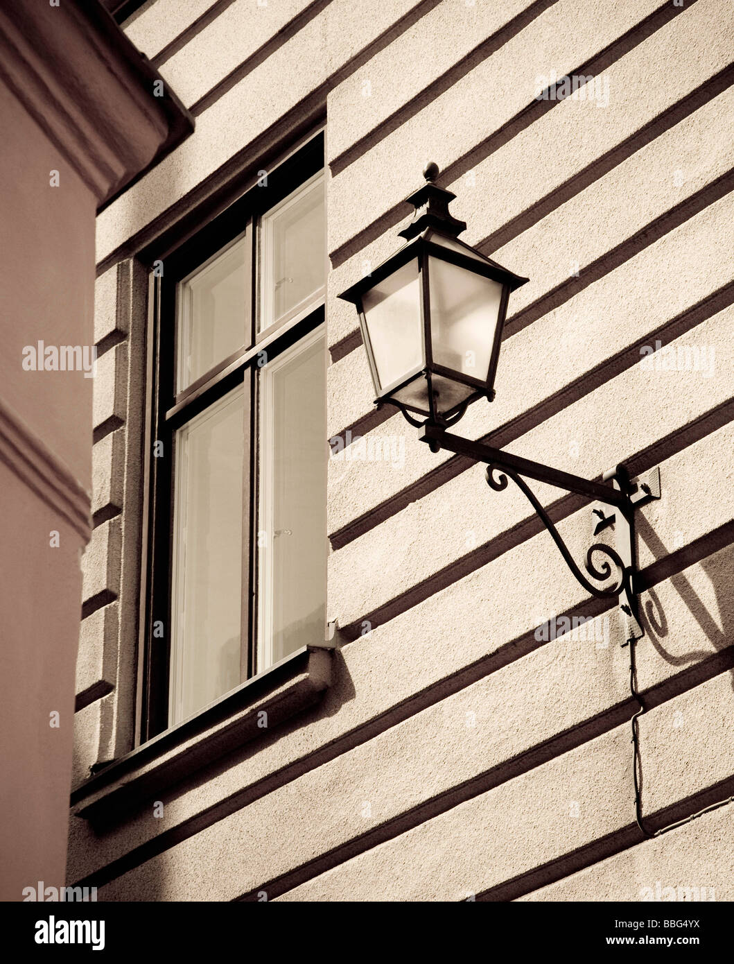 Swedish street lamp - Stock Image