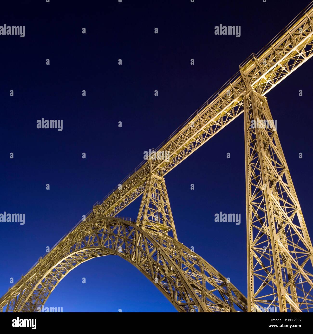 Ponte Dona Maria Pia Stock Photo