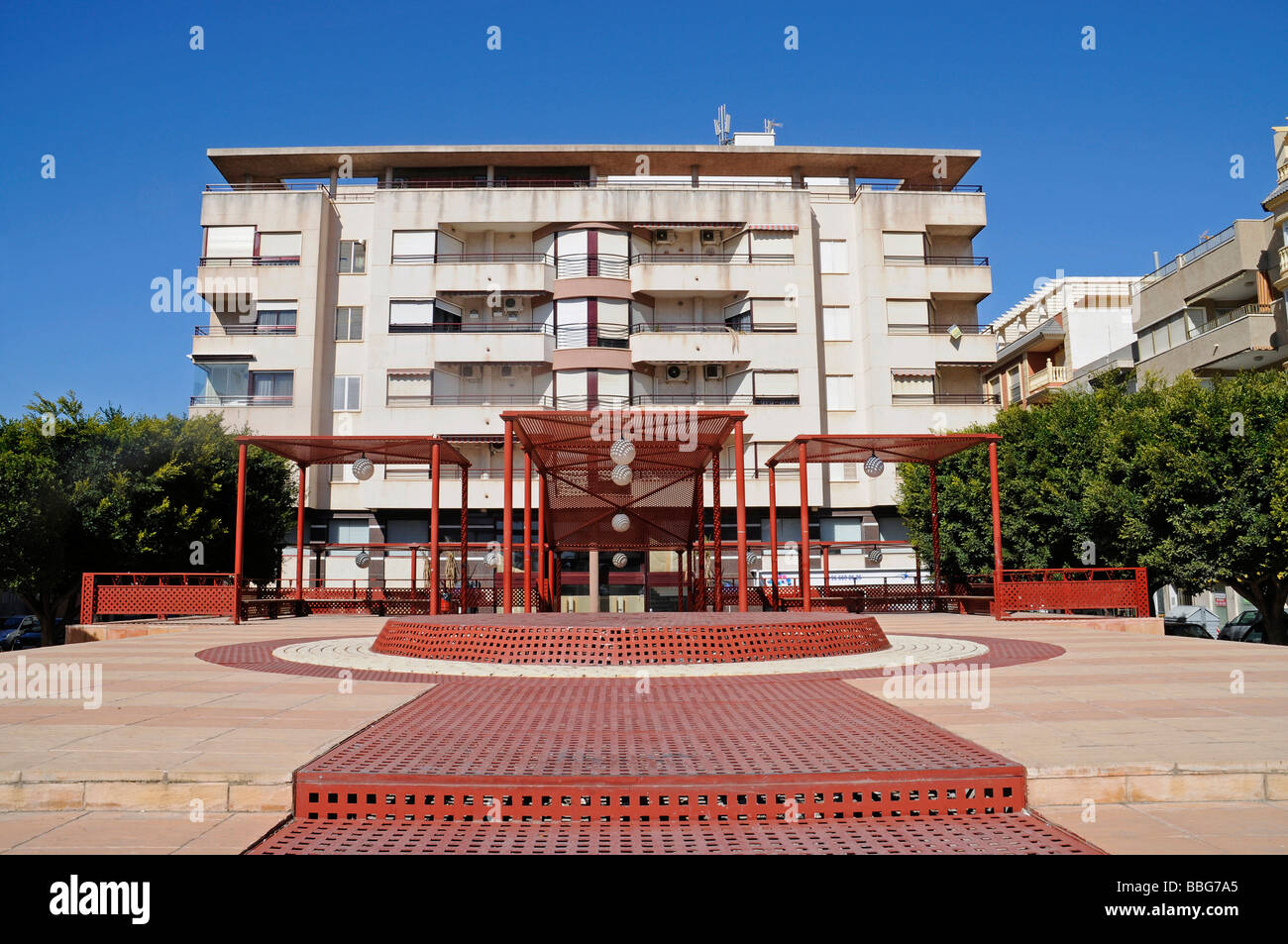 Aquarium, salt water, square, Santa Pola, Alicante, Costa Blanca, Spain, Europe - Stock Image