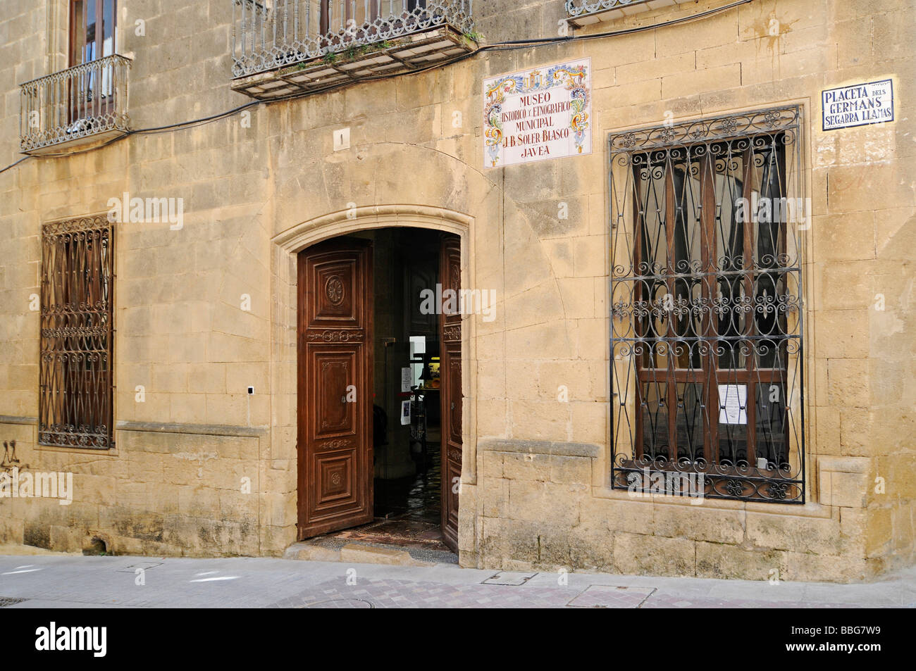 Museo Arqueológico y Etnografico Soler Blascoy, historical, archaeological and ethnographic museum, old town, Javea, Stock Photo