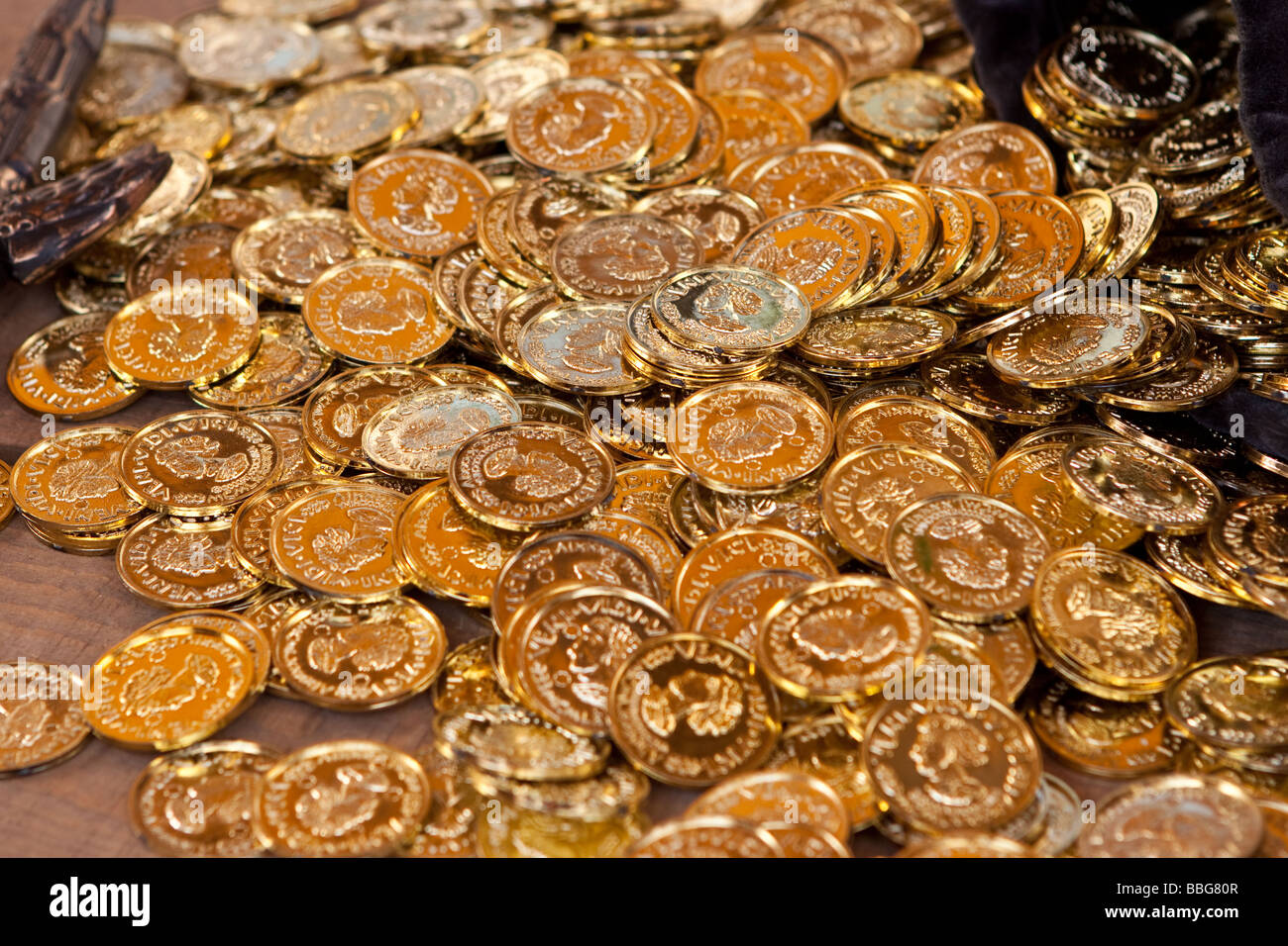 The pirate's Gold doubloons Stock Photo: 24329111 - Alamy