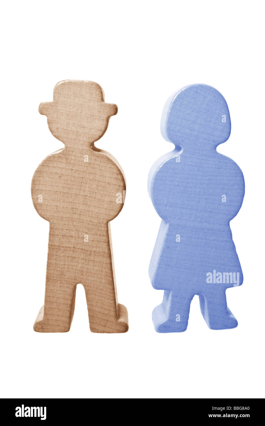 Wooden Figures - Stock Image