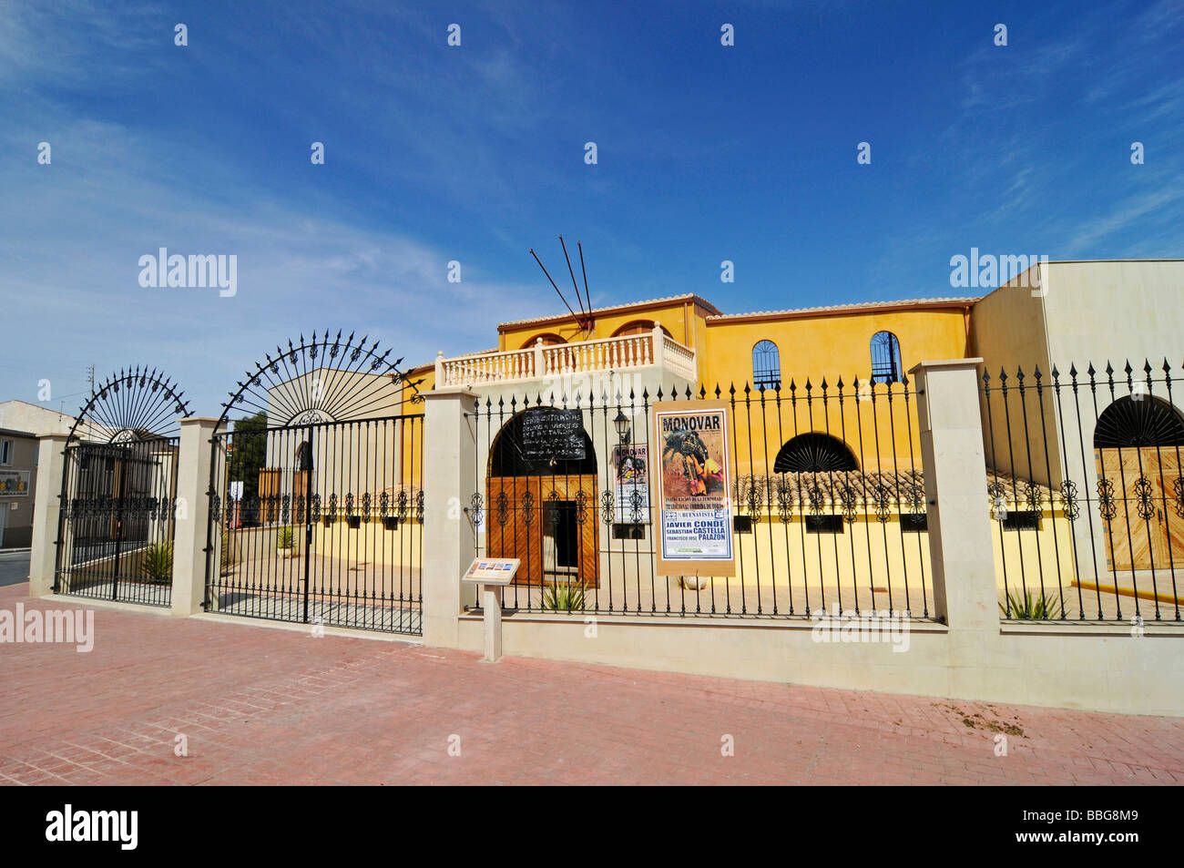 Bullring, bullfighting, arena, Monovar, Alicante, Spain, Europe Stock Photo