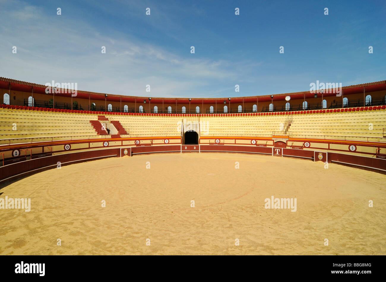 Bullring, bullfighting, arena, Monovar, Alicante, Spain, Europe - Stock Image