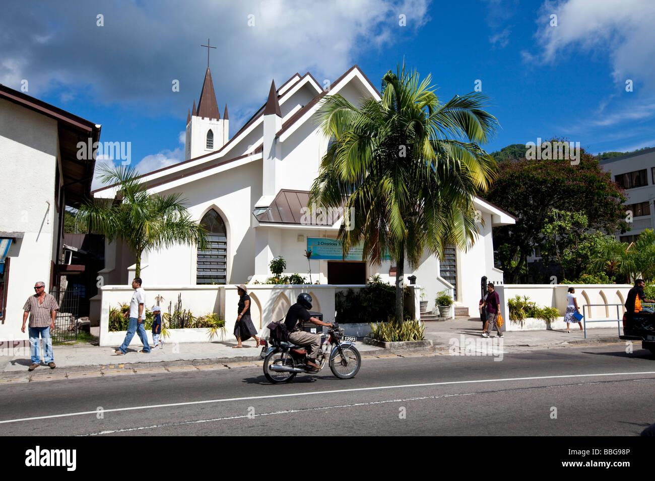 St Paul's Church in Albert Street, the capital of Victoria, Mahe Island, Seychelles, Indian Ocean, Africa - Stock Image