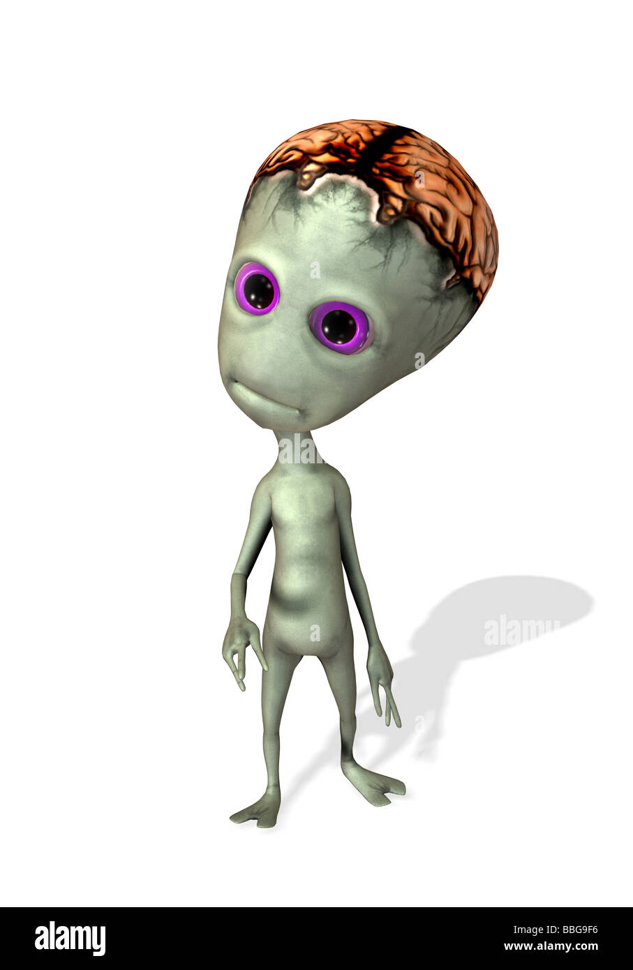 alien toon - Stock Image