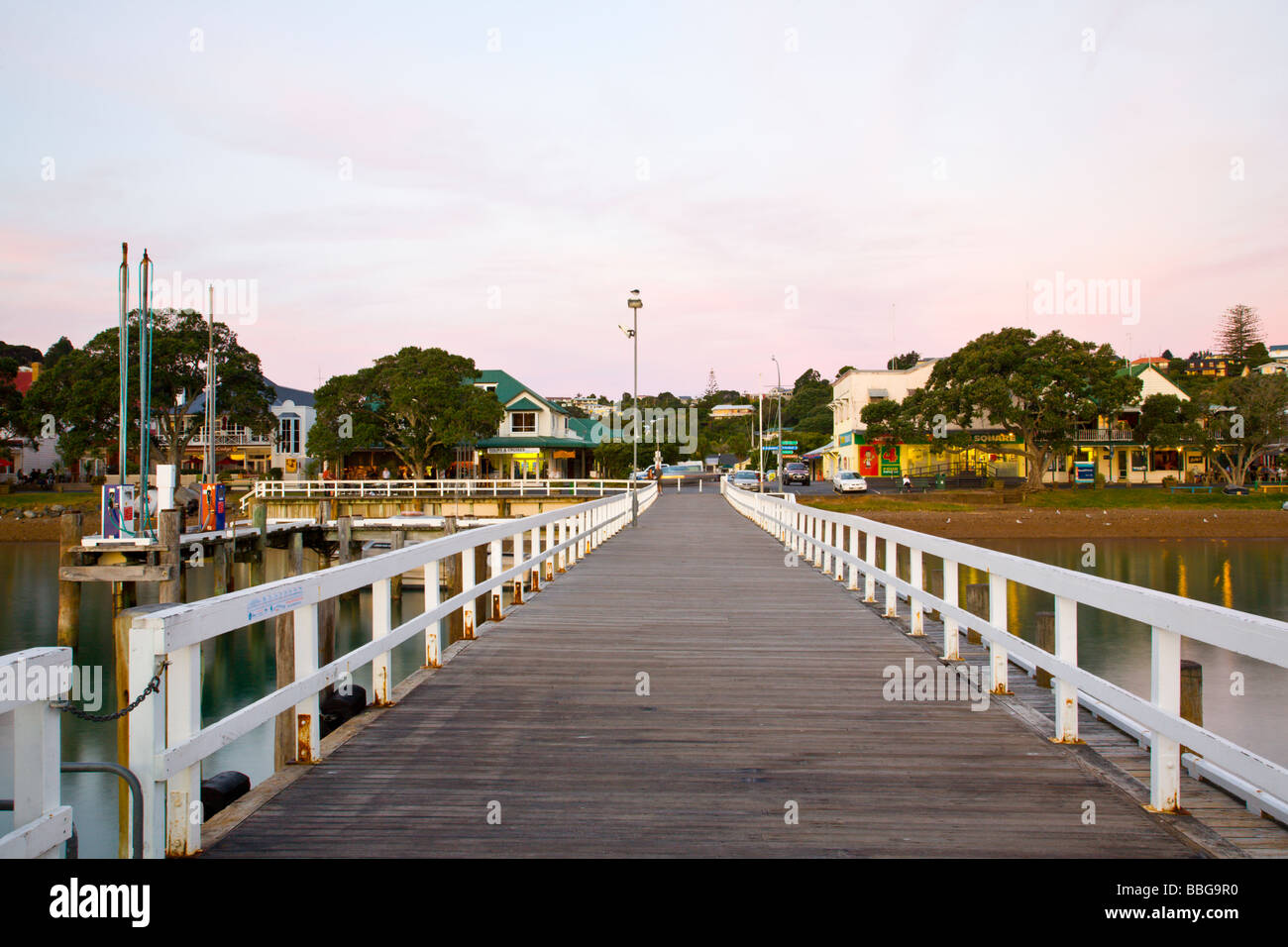 Jetty Russell North Island New Zealand - Stock Image