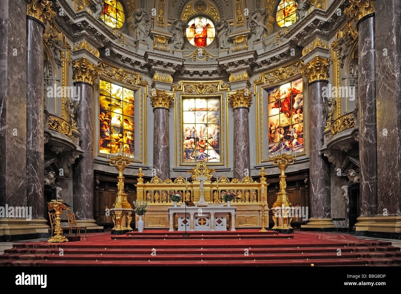 Altar, Berlin Cathedral, Berlin, Germany, Europe - Stock Image