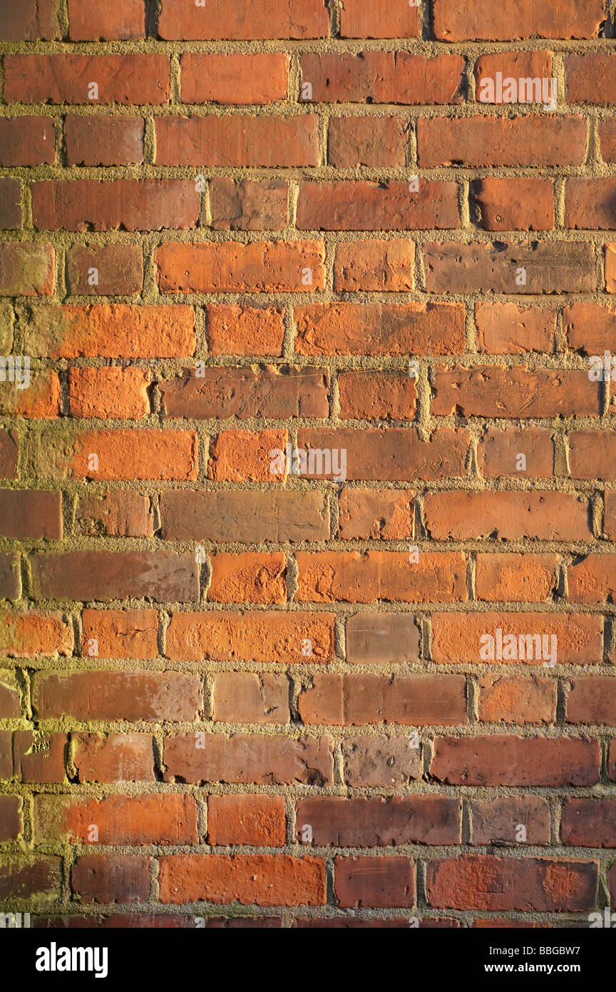 Exterior of red brick wall of Victorian house in London England UK europe bricks and mortar building construction - Stock Image