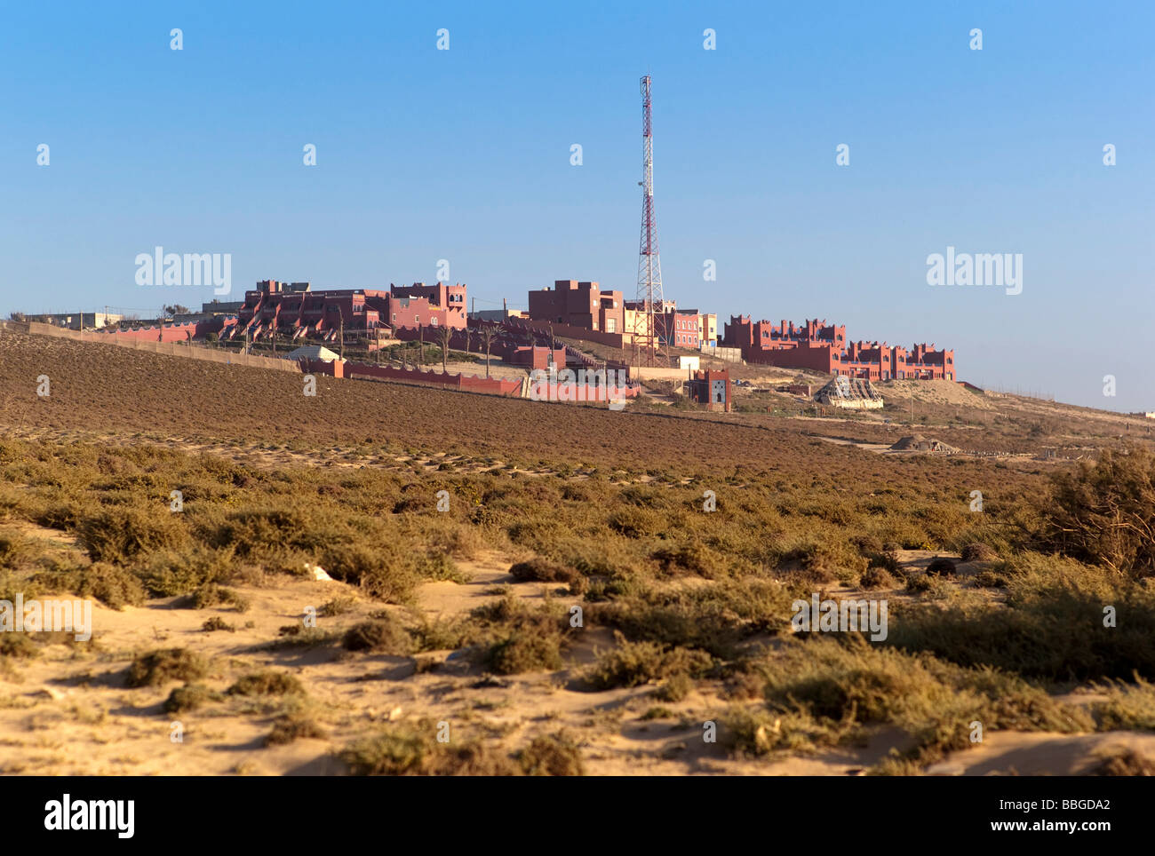 Hotel complex south of Agadir, Moroccan style architecture, Morocco, Africa Stock Photo