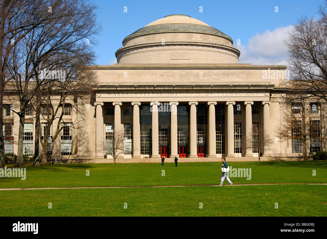 The central part of the Maclaurin Building, Massachusetts Institute of Technology, MIT, Cambridge, Massachusetts, - Stock Image