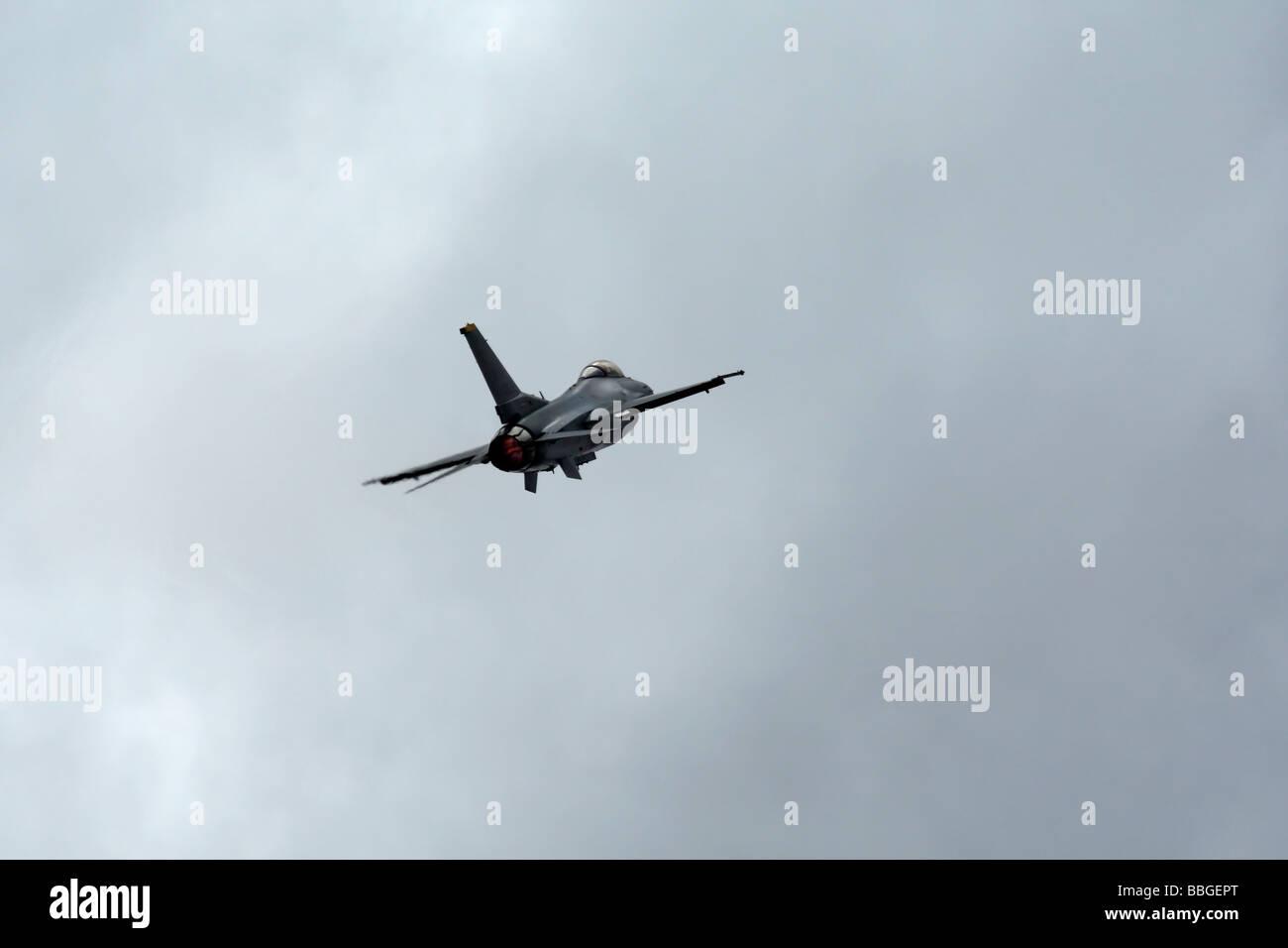 F 16 Fighting Falcon in Flight - Stock Image