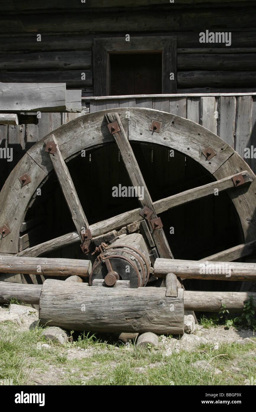 wheel Kvacianska dolina Slovakia - Stock Image