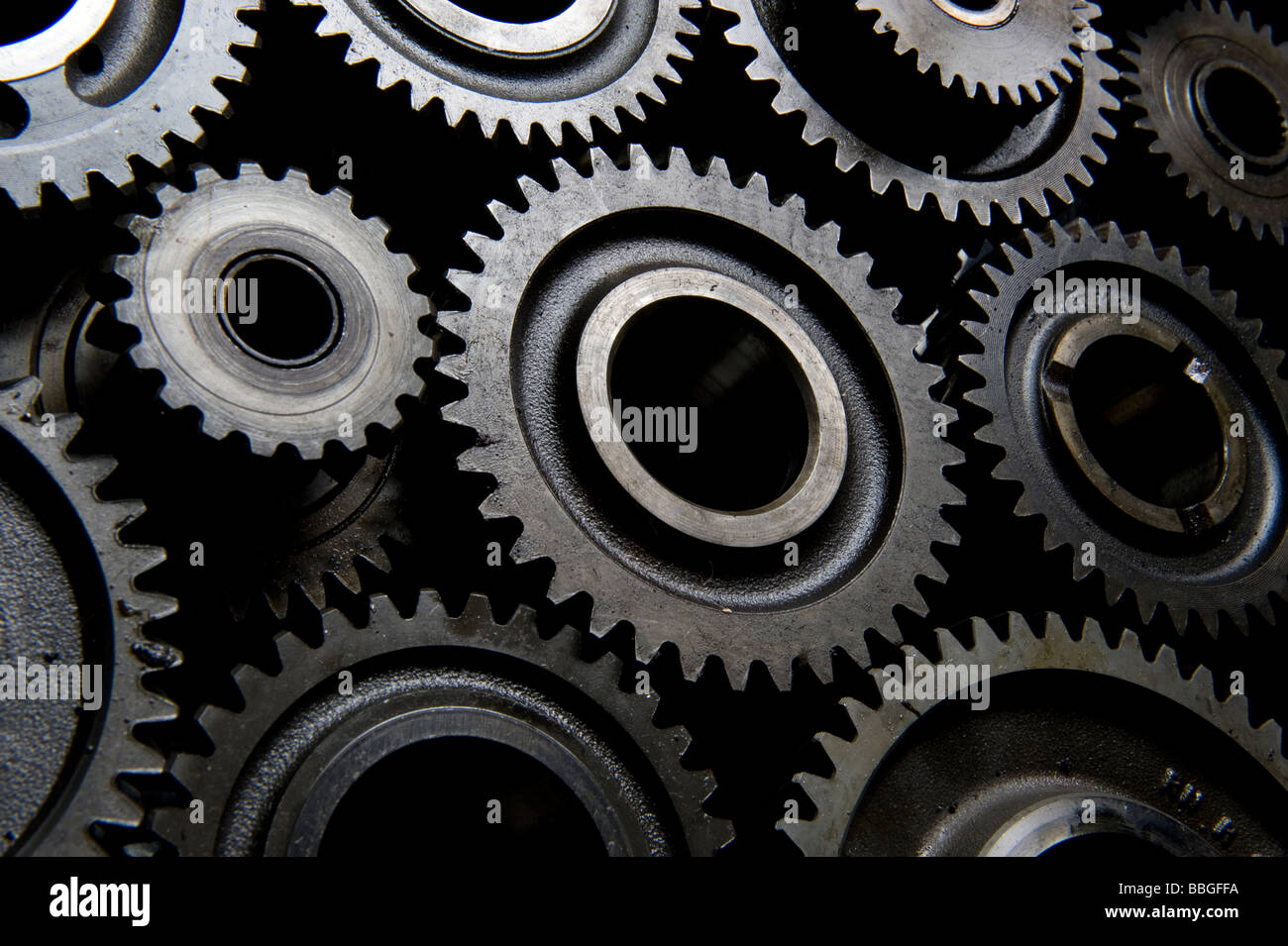 Interlocking Gear Cogs Stock Photo 24335006 Alamy