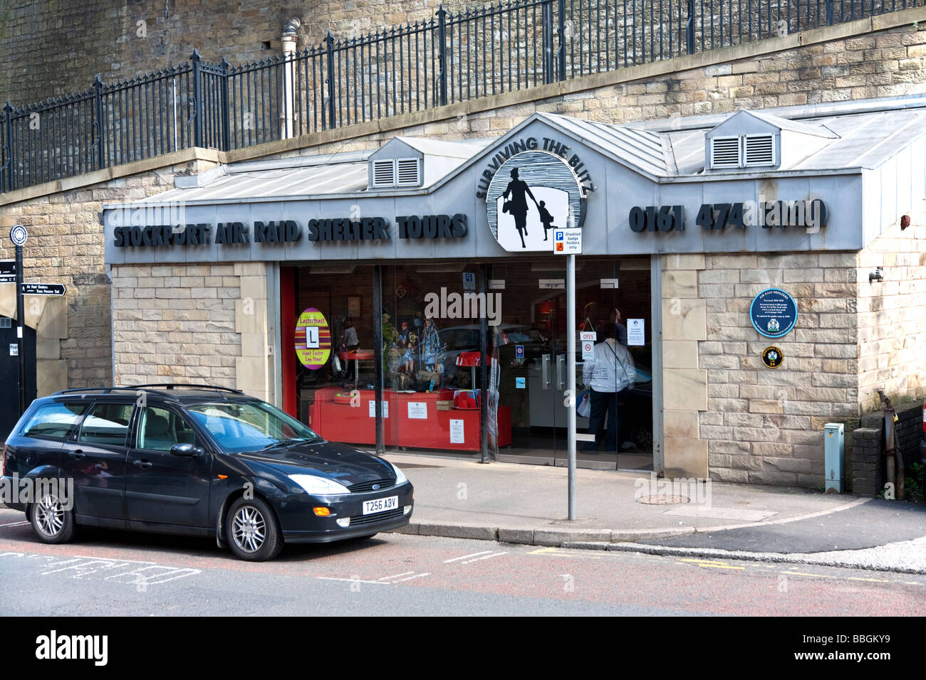 Exterior view Stockport Air Raid Shelters. Stockport, Greater Manchester, United Kingdom. - Stock Image