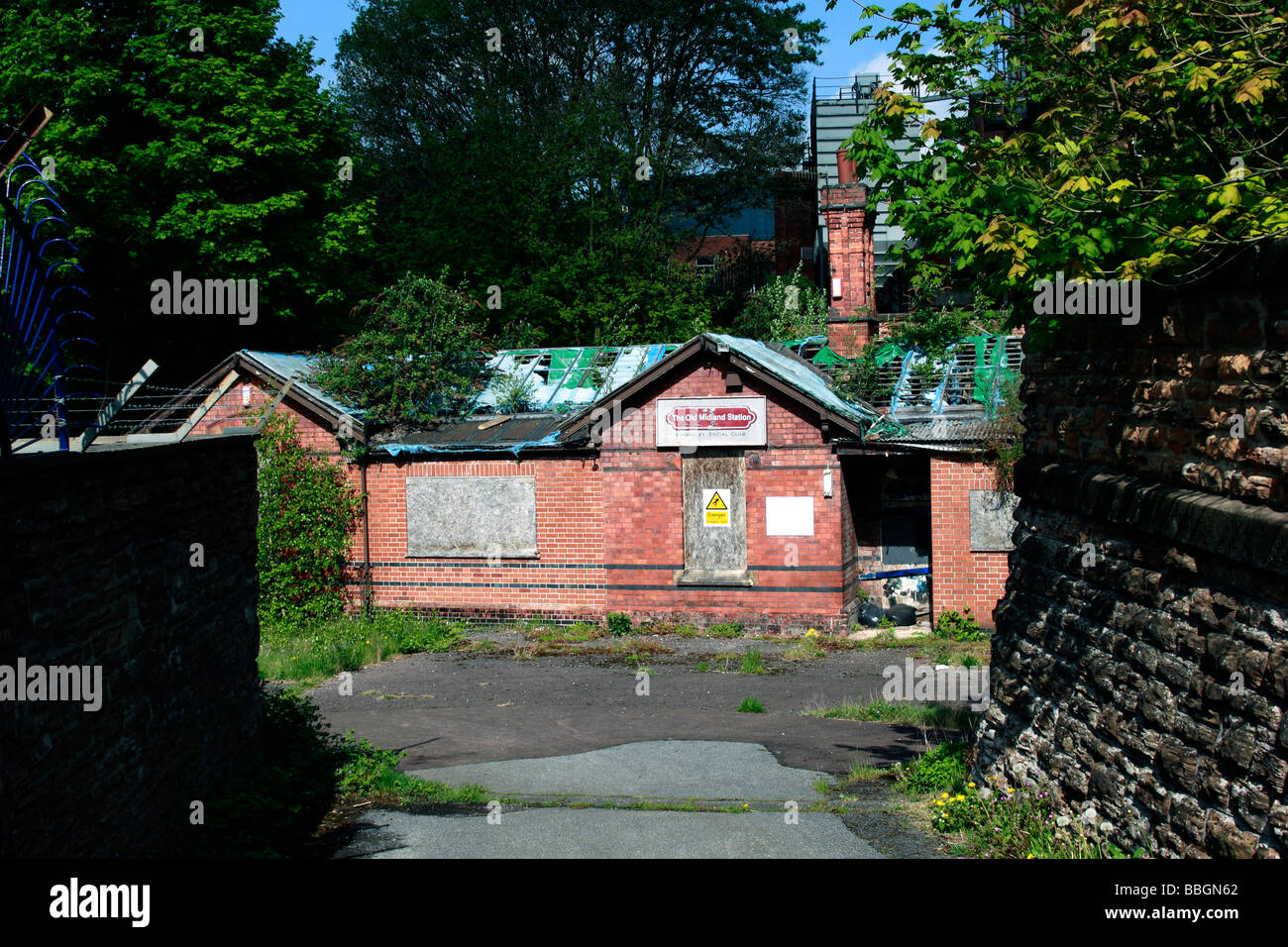 the Old Midland Station Kimberley Social Club It was built in 1882 for the Midland Railways Basford to Bennerley - Stock Image