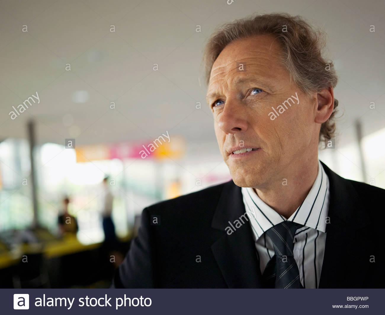 Contemplative businessman - Stock Image