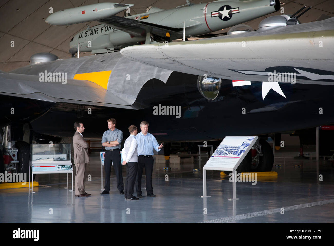 Imperial War Museum in Duxford Cambridge containing a huge selection of the worlds aircraft and also a working airstrip, - Stock Image