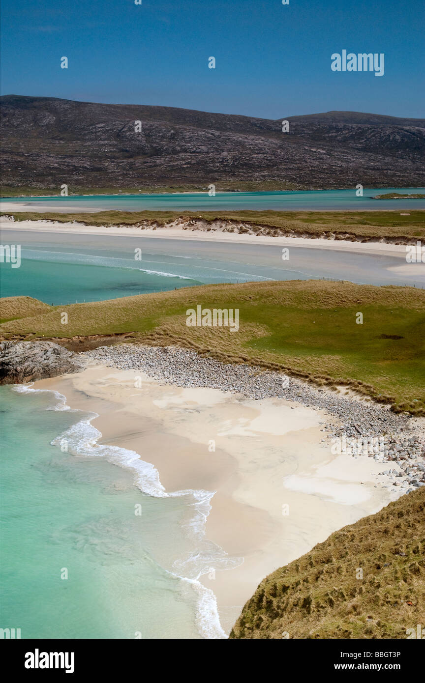 Seilebost beach, Isle of Harris, Outer Hebrides, Scotland - Stock Image