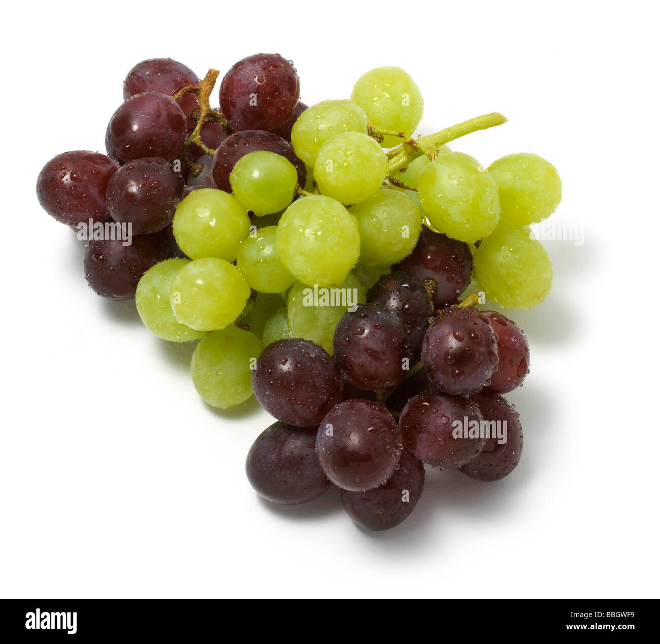 Bunch of Grapes cut out on a white background Stock Photo