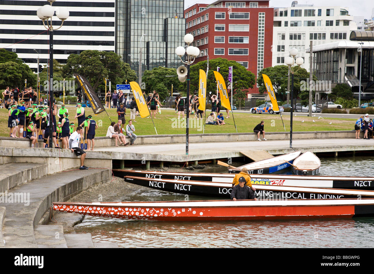 2009 Annual Dragon Boat Race Wellington North Island New Zealand Stock Photo