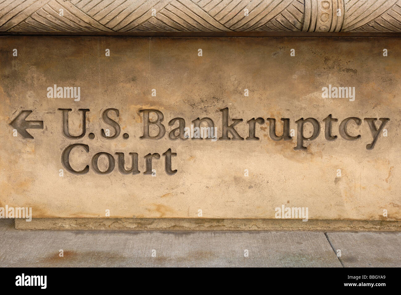 US Bankruptcy Court New York city NY USA - Stock Image