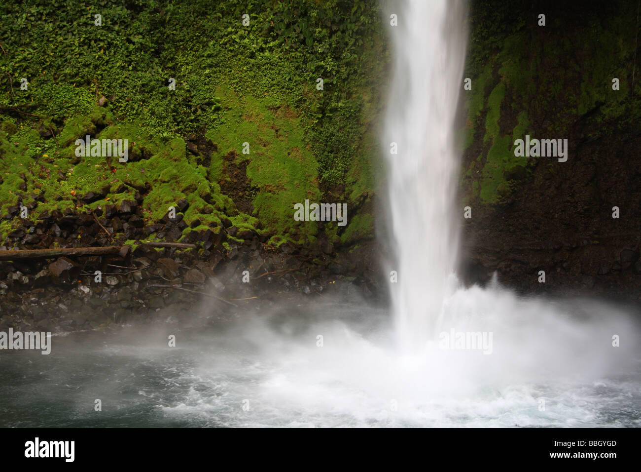 Costa Rica La Fortuna waterfall - Stock Image