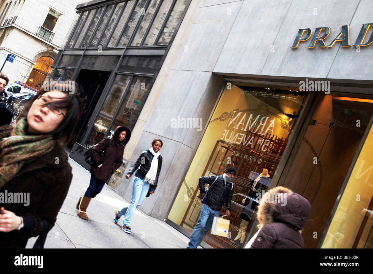 shopping, 5th Avenue, New York - Stock Image