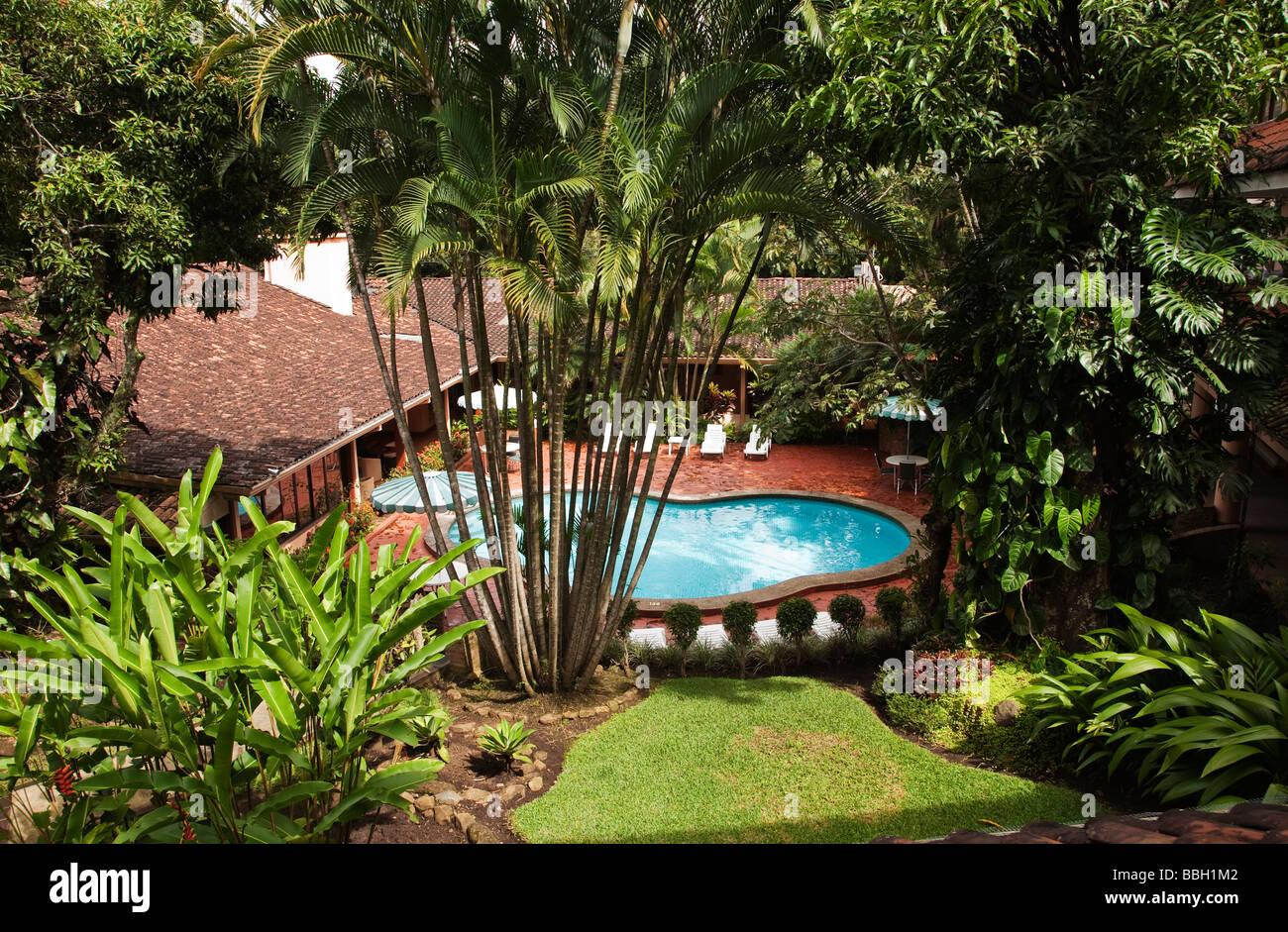 Costa Rica San Jose Tropical Garden And Swimming Pool San Gildar Hotel  Escazu