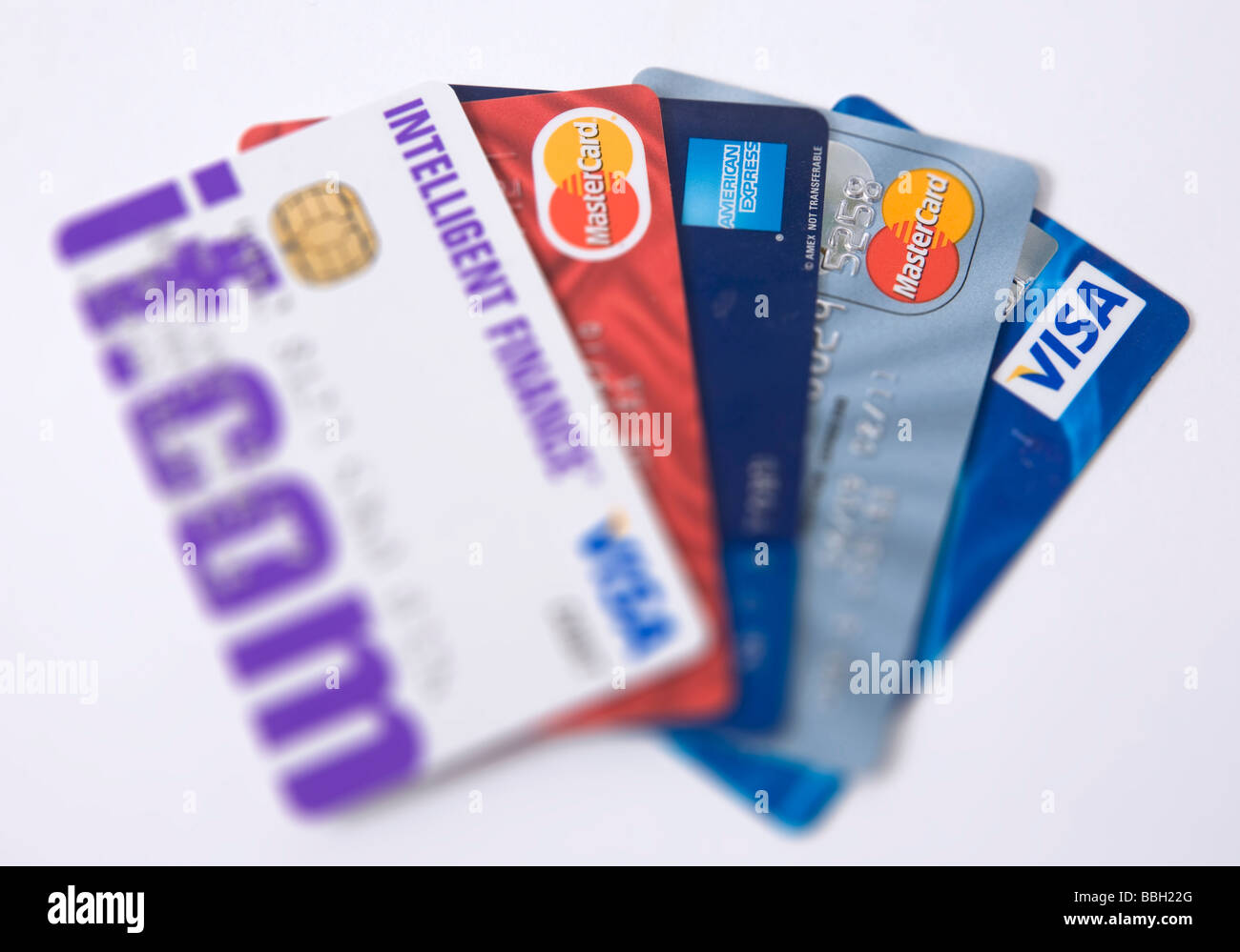 'credit cards' visa - Stock Image