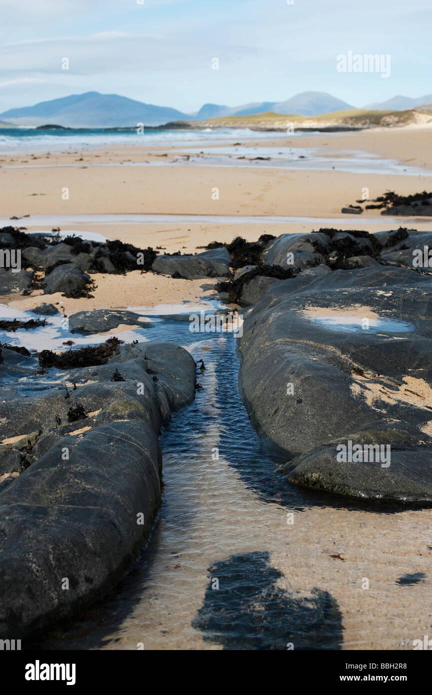 Traigh Lar  beach, South Harris, Outer Hebrides, Scotland - Stock Image