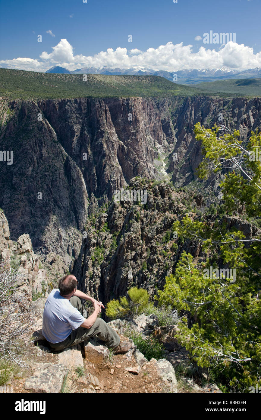 View from Warner Point of the Black Canyon of the Gunnison National Park Colorado USA - Stock Image