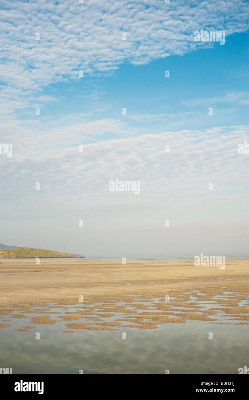 Isle of Harris beach coastline. West Coast, Isle of Harris, Outer Hebrides, Scotland - Stock Image