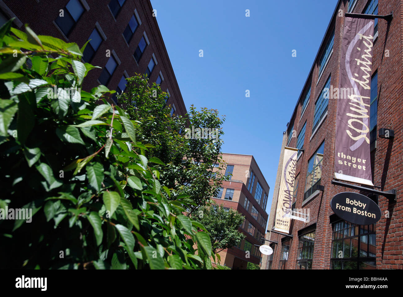 Art galleries, South End, Boston - Stock Image