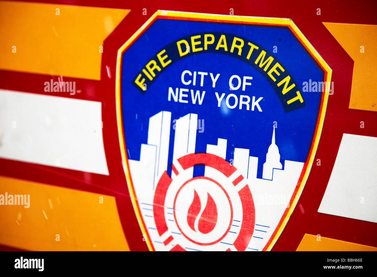 Fire Department New York City Logo FDNY Emblem Stock Photo