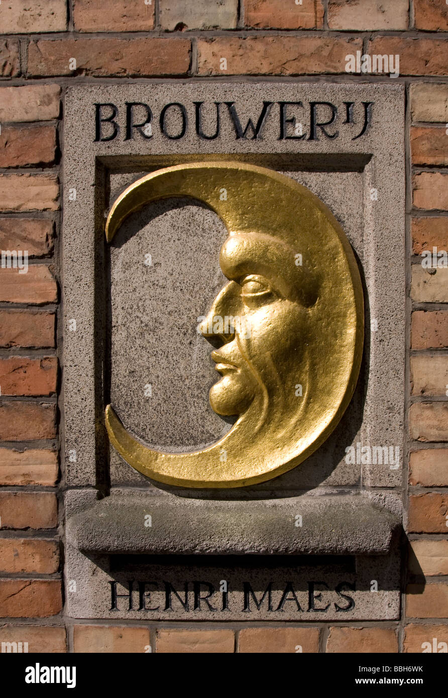 Brewery De Halve Maan, also knows as Breweryj Henri Maes, Brughes (Brugge), Belgium. Stock Photo