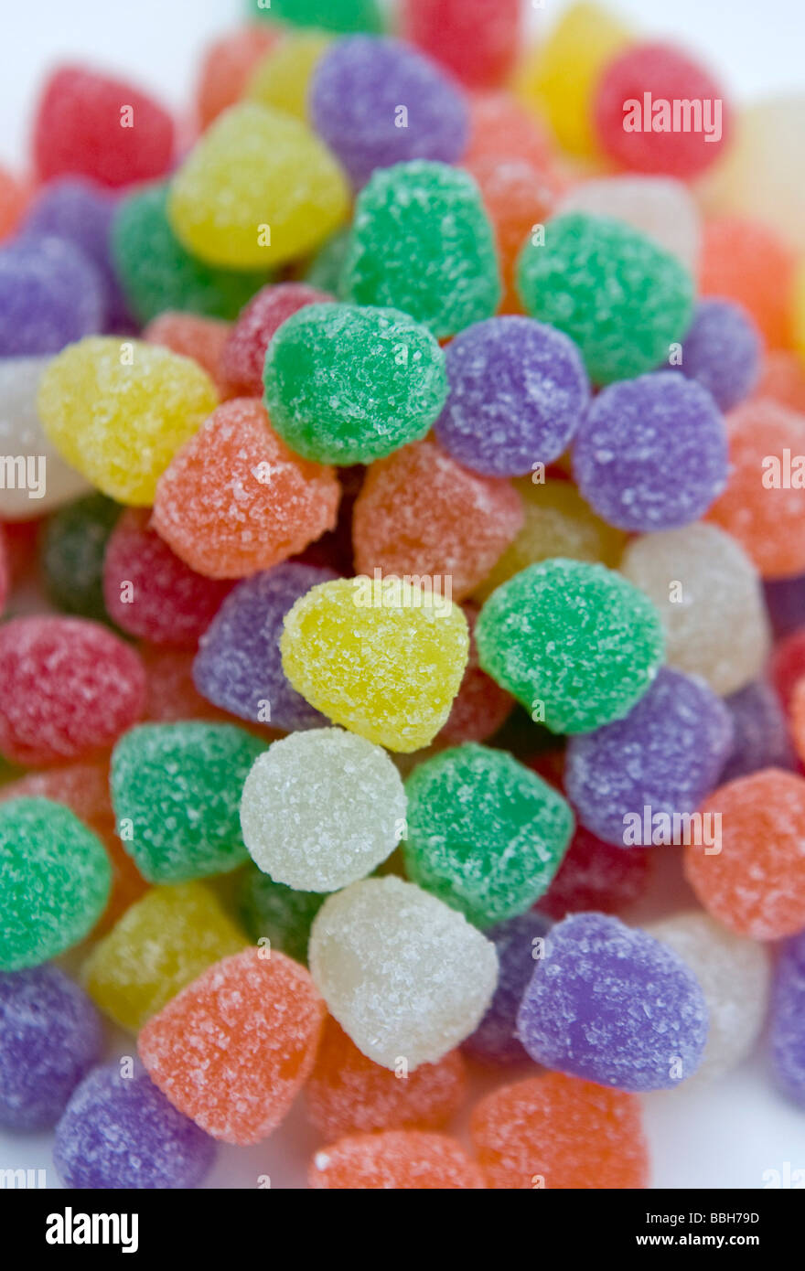 Gum Drops Candy sales in the US have remained strong despite an across the board increase in the price of candy - Stock Image