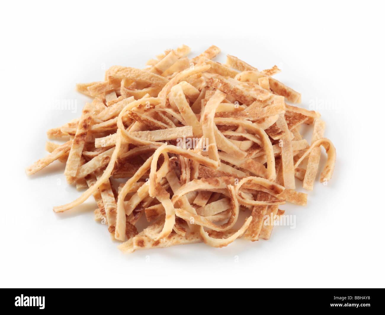 Celestine noodles - sliced pancakes Stock Photo